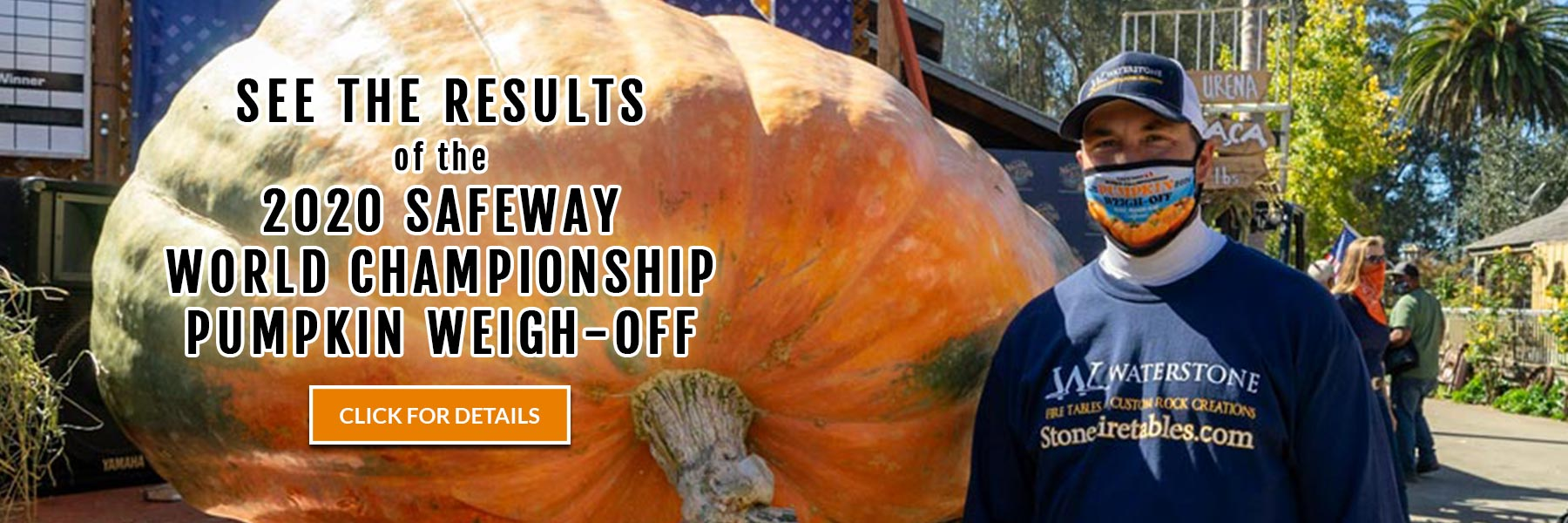 See the results of the 2020 Safeway World Championship Pumpkin Weigh-Off - click for details